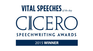 "Judith Ingram won the Cicero Speechwriting Award in the Media category for, ""Fan Into Flame Your Writing Gift."""