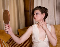 Vain Woman with Mirror-230