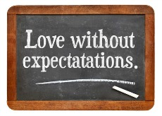Love without expectations Sign-230